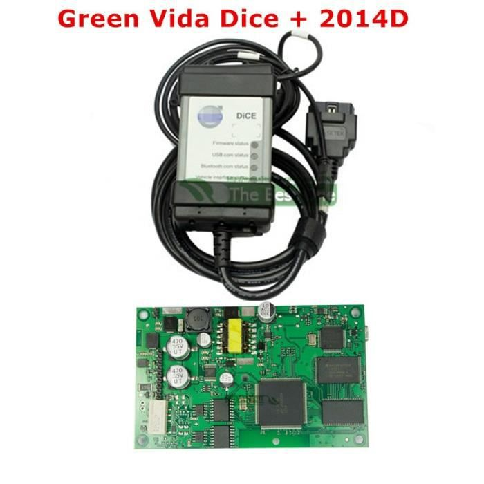 Volvo Vida Dice 2015A planche verte Outil de Diagnostic pour voiture Vida Dice modèle nouveau 2019 OBD2 - Type Green Dice 2014D