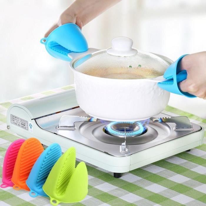 Gant de cuisson en Silicone Mini four gants en Silicone résistant à la chaleur mitaines de pincement - Type 1PC random color