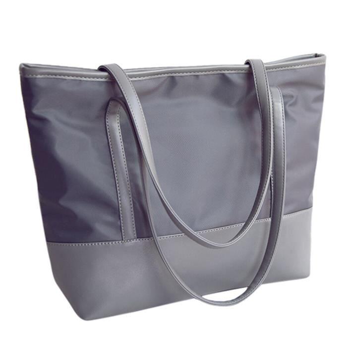 W4408 Coofit femmes grand sac en Nylon Simple loisirs fourre tout sac à main grande capacité épaule sac fourre tout Shopper sac po