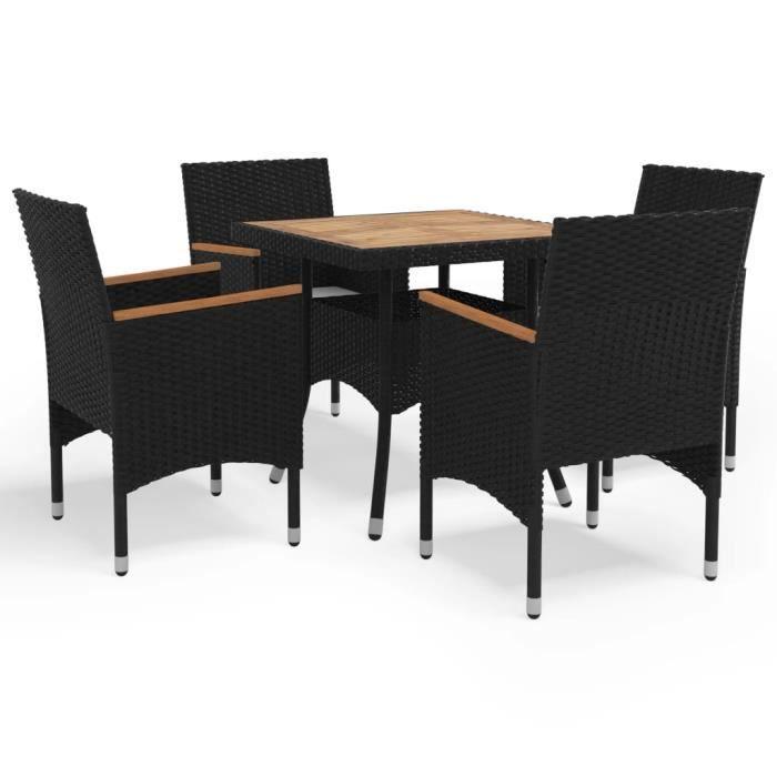 Mode Salon de jardin - 4 personnes Mobilier à dîner d'extérieur Ensemble repas de jardin - Ensemble Table et Chaises ENSEMBLE