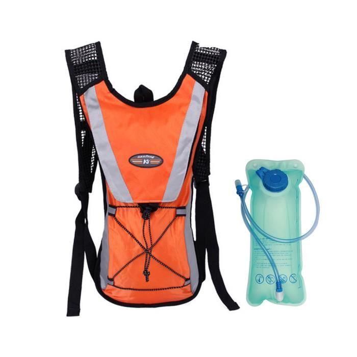 Sac à dos d'hydratation avec vessie d'eau 2L pour la course,la randonnée,le cyclisme,l'escalade,le camping-d