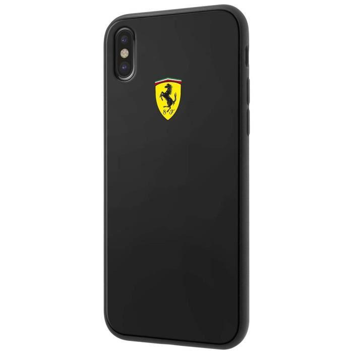 Ferrari Coque pour Apple iPhone x, Couleur Noir - FECI026