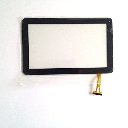 Mobitech@ Vitre tactile THOMSON TEO-QD10C 10'' couleur Noir avec autoadhésif