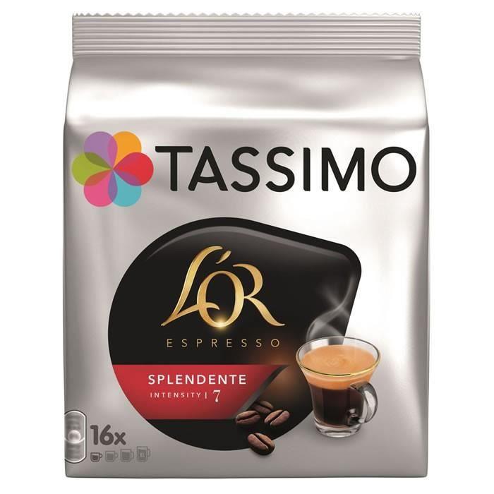 LOT DE 6 - TASSIMO : L'Or Espresso - 16 Dosettes de Café Splendente