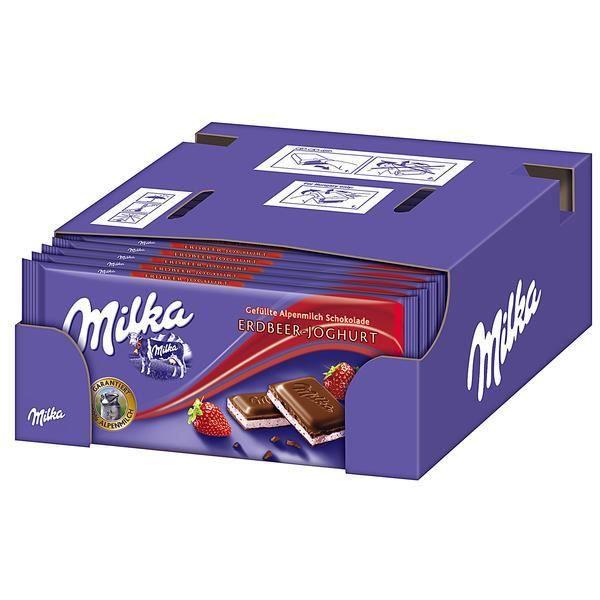 Milka Fraise Yaourt Chocolat 20 x 100g