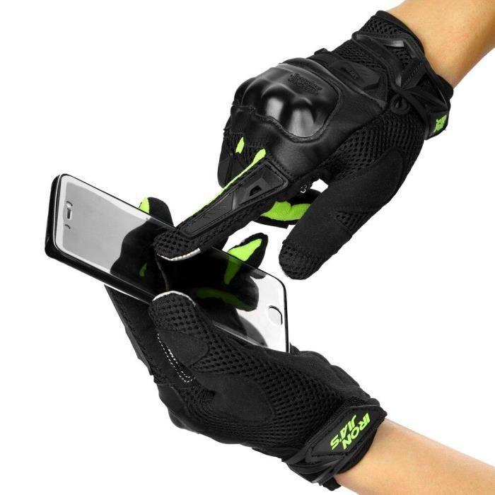 Paire de gants de plein air unisexe fibre de carbone vélo moto moto gants de course en plein air