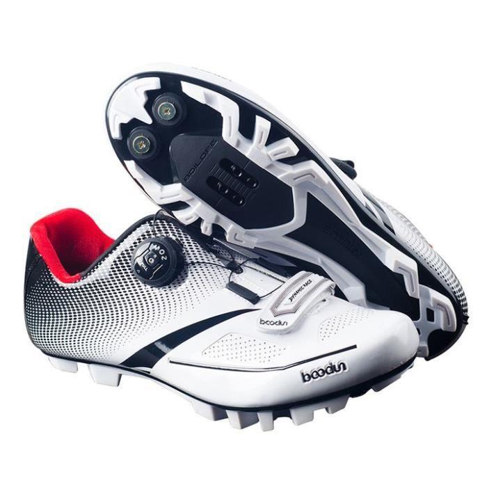 Chaussures de Cyclisme de VTT Homme Solide Léger Aération