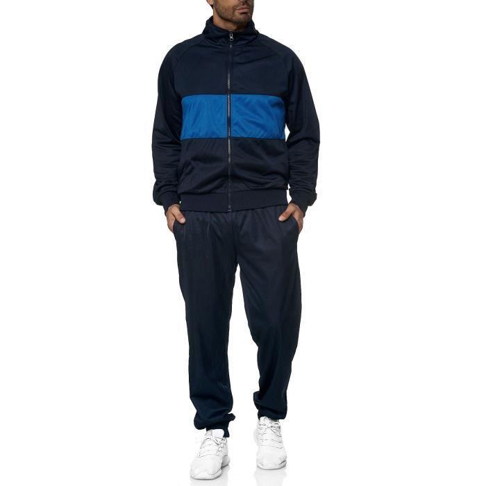 homme survêtement jogging pantalon d'entraînement sport jogger [Bleu, XL]