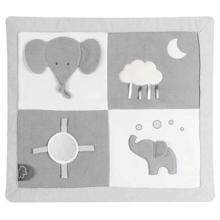 NATTOU Tapis d'éveil avec arches Tembo - 74 x 60 cm - Dès la naissance - En coton et polyester