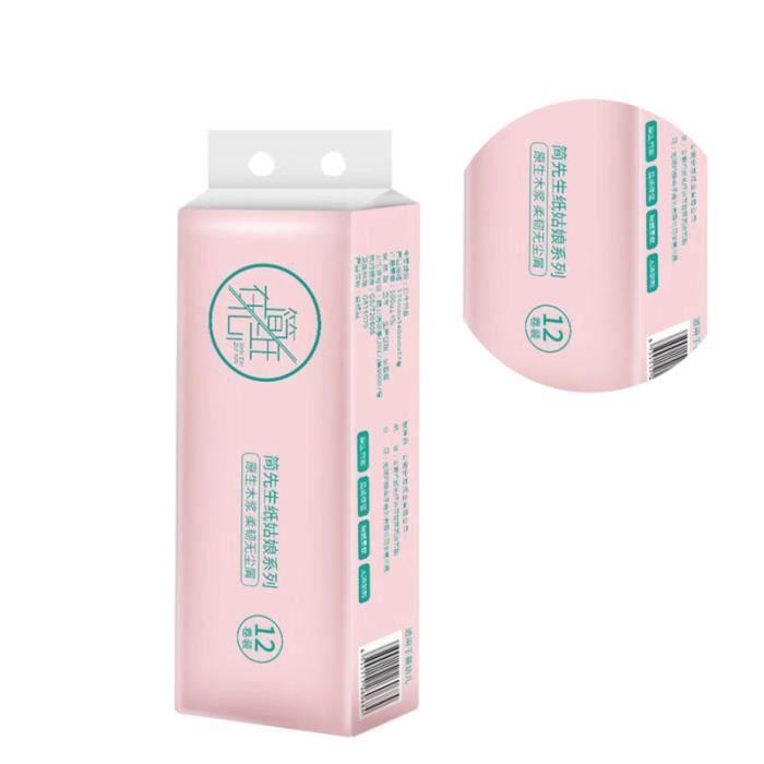 1 paquet / 12 rouleaux de papier hygiénique Rouleau de Papier domestique pour atelier de bureau à domicile WC CHIMIQUE - WC MARIN