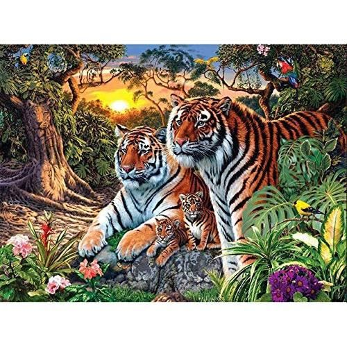 Diamond Painting 5D Diamant Peinture Animal Tigre Point De Croix Diamant Broderie Complet Diamant Paysage Strass Home DeRW443292