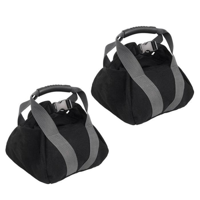 Toile-Kettlebell-Sandbag RéGlable avec PoignéE pour L'EntraîNement EntraîNement à Domicile, Yoga, Fitness