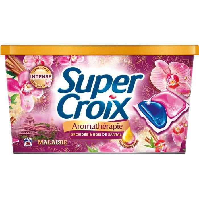 SUPER CROIX Lessive Duo-caps Aromathérapie Malaisie - 26 doses