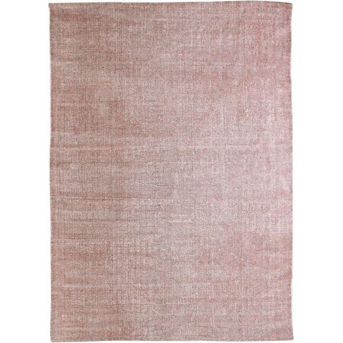 Tapis DUNES coton 120x170 rose poudré
