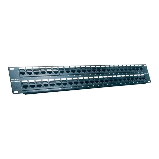 TRENDNET Network Pièce pour panneau TC-P48C5E - 48 Port(s) - 48 x RJ-45 - 48 x RJ-11 - 19- Grand Angle