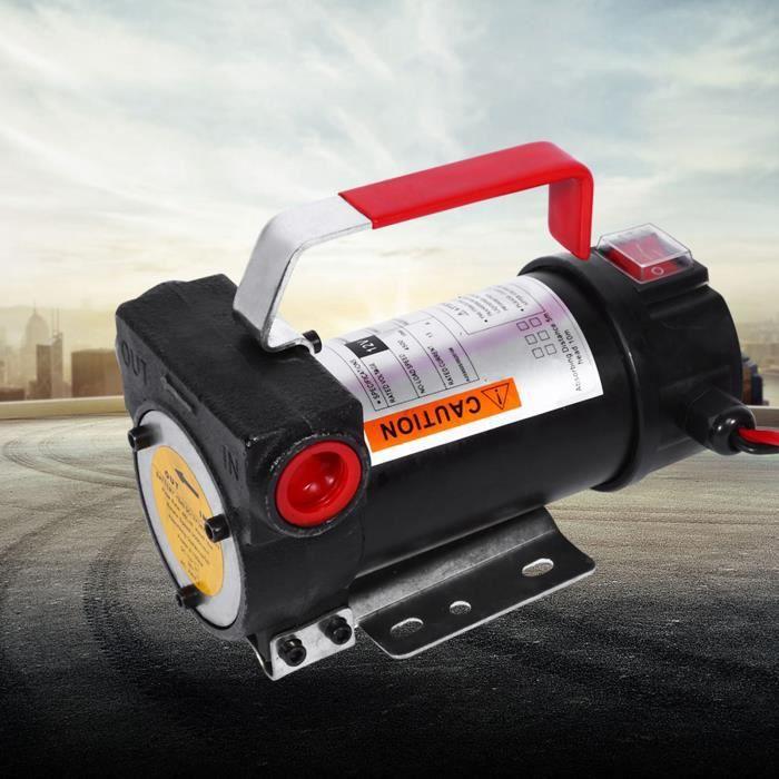 12V Portable Pompe à Fioul et Diesel - 45L-min Pompe de Transfert d'Huile Pompe à Diesel Électrique Pompe de Liquide WER317