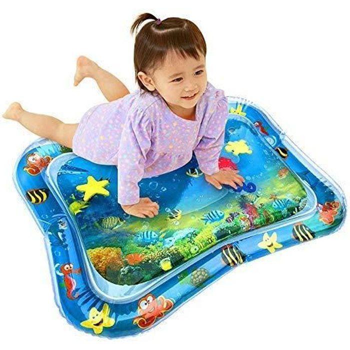 Tapis Tummy Time, Tapis D'eau Gonflable De Bébé, Tapis D'activi Parfait D'activité De Jeu De Temps D'amusement Pour Bébés Enfants
