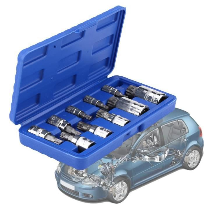 Ensemble clé à douille vis à denture 1//2 pouce cannelé outils kit coffret