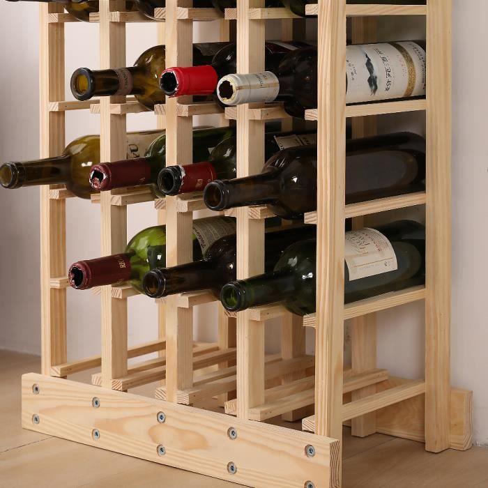 Sélection de Naturel en Bois vin Racks de stockage titulaire 24 To 30 bouteille Capacité