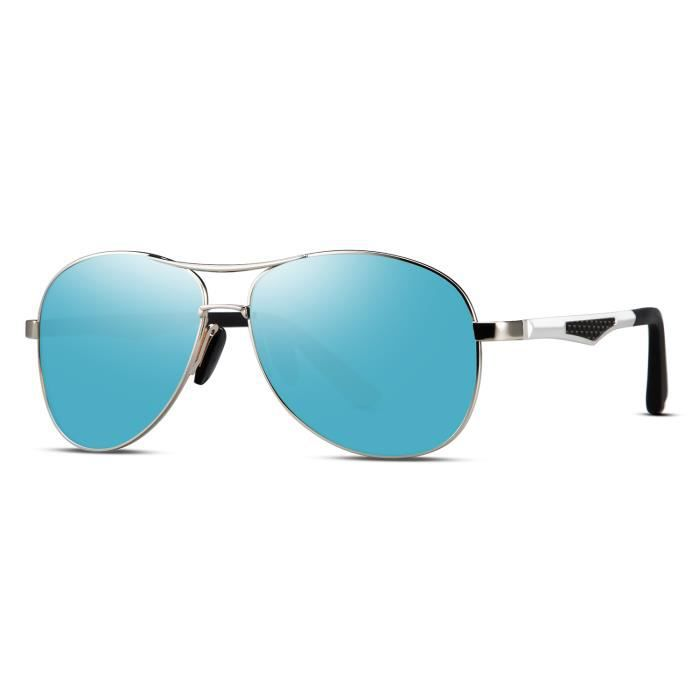 Homme HD Lunettes de soleil polarisées Al-Mg cadre en métal Fashion Aviateur Conduite UV400 UK