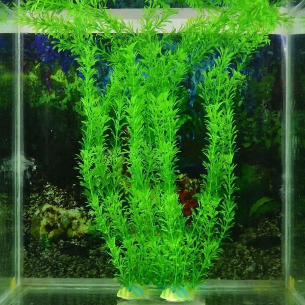 3pc 13 En Plastique Décoration D'herbe Artificielle Aquarium
