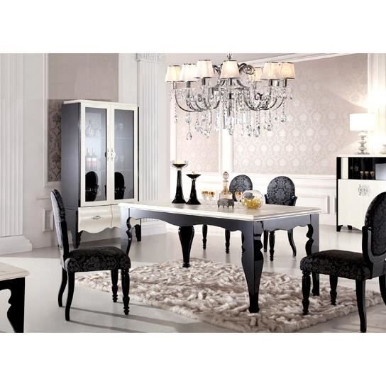 Emejing salle a manger baroque moderne contemporary for Table 160 cm avec rallonge