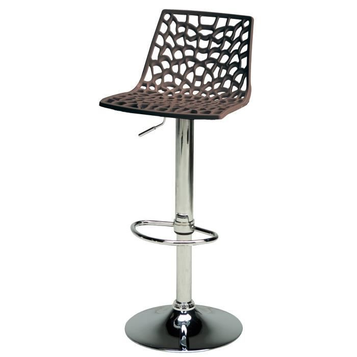 tabouret de bar chocolat design spider achat vente tabouret de bar polypropylene soldes. Black Bedroom Furniture Sets. Home Design Ideas