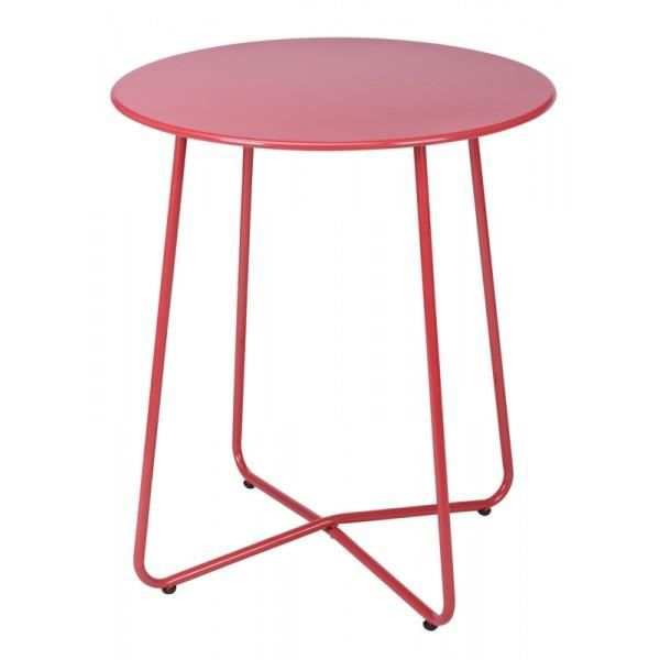 Table ronde en metal rouge achat vente table de jardin - Table ronde rouge cuisine ...