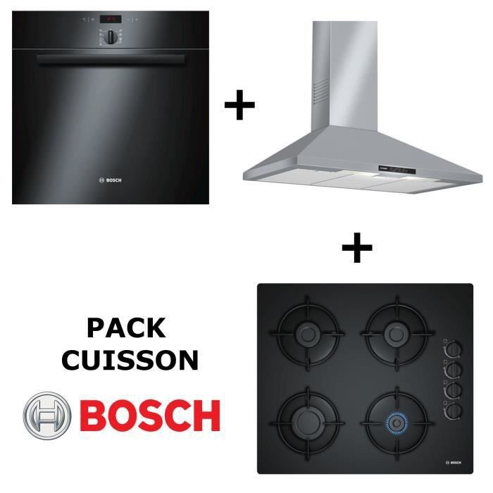bosch pack cuisson four multifonction pyrolyse table de cuisson gaz hotte achat. Black Bedroom Furniture Sets. Home Design Ideas