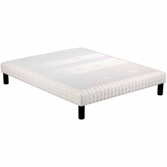 SOMMIER Sommier tapissier Epeda Confort Moelleux 5 Zones -