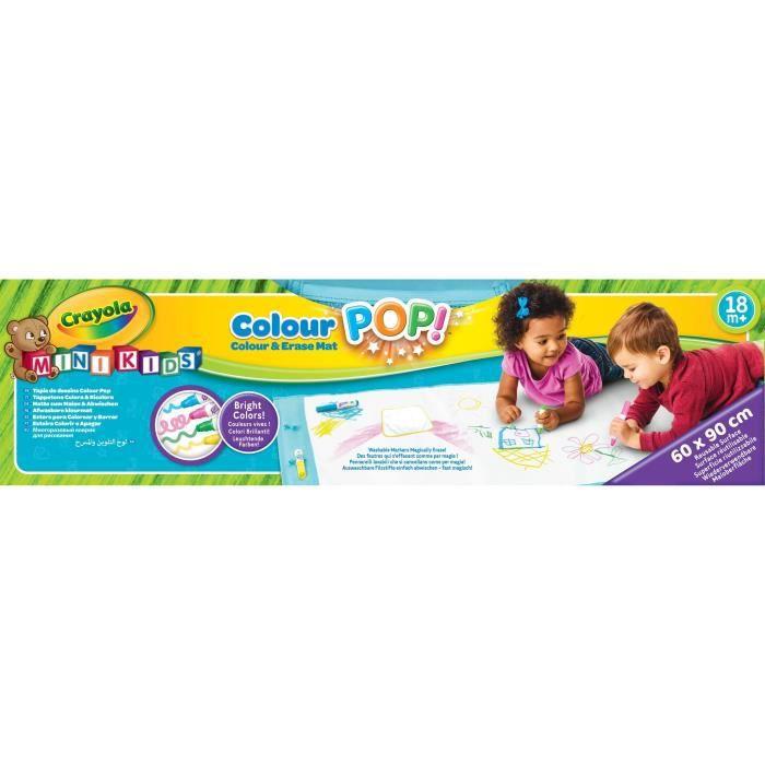 Crayola Mini Kids Tapis De Dessins Color Pop 18 Mois Coloriage Pour Enfant Et Tout Petit Achat Vente Tapis De Jeu Cdiscount