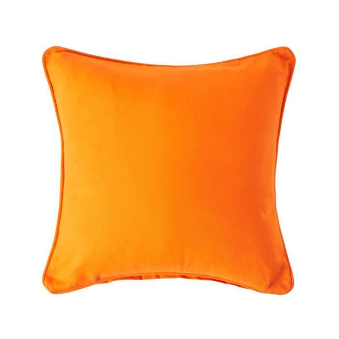 coussin d houssable orange 60 x 60 cm achat vente. Black Bedroom Furniture Sets. Home Design Ideas