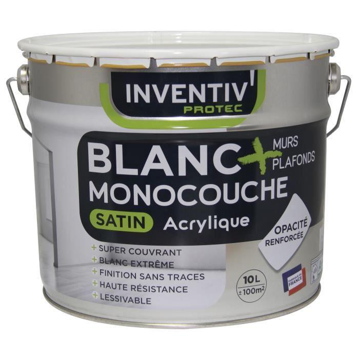 PEINTURE - VERNIS Peinture Murs & Plafonds Acrylique Satin Monocouch