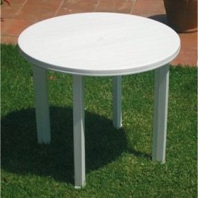 Table Ronde Viana Blanc Joluce Sotrapa Achat Vente Table De Jardin Table Ronde Viana