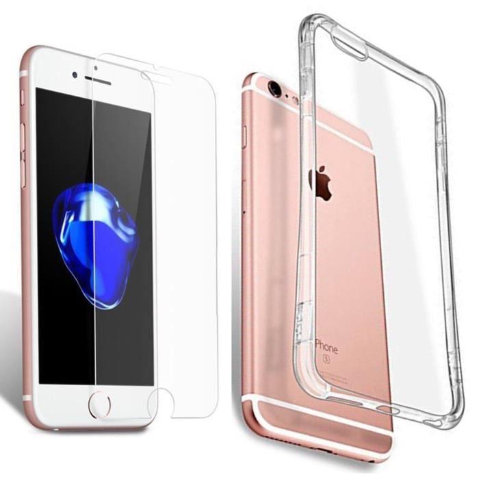 coque apple iphone 8 plus silicone transparent a