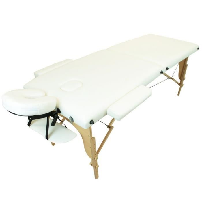 Table de massage pliante 2 zones blanche achat vente table de massage tab - Table pliante massage ...