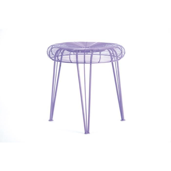 tabouret spydamo couleur violet achat vente tabouret. Black Bedroom Furniture Sets. Home Design Ideas