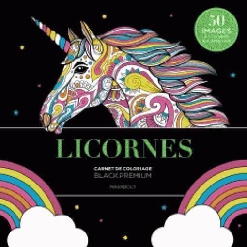 Livre Black Premium Licornes