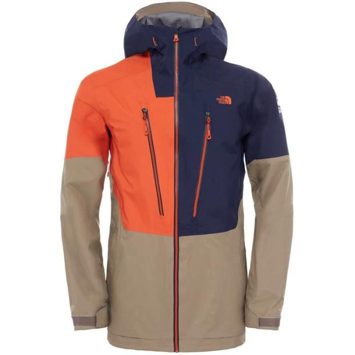 the north face veste ski homme free thinker jacket m orange bleu tailles s prix pas. Black Bedroom Furniture Sets. Home Design Ideas