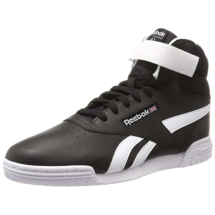 8db3f90ab83fa Reebok Ex-o-Fit Men Clean S Hi Baskets montantes OV97T Noir Noir ...