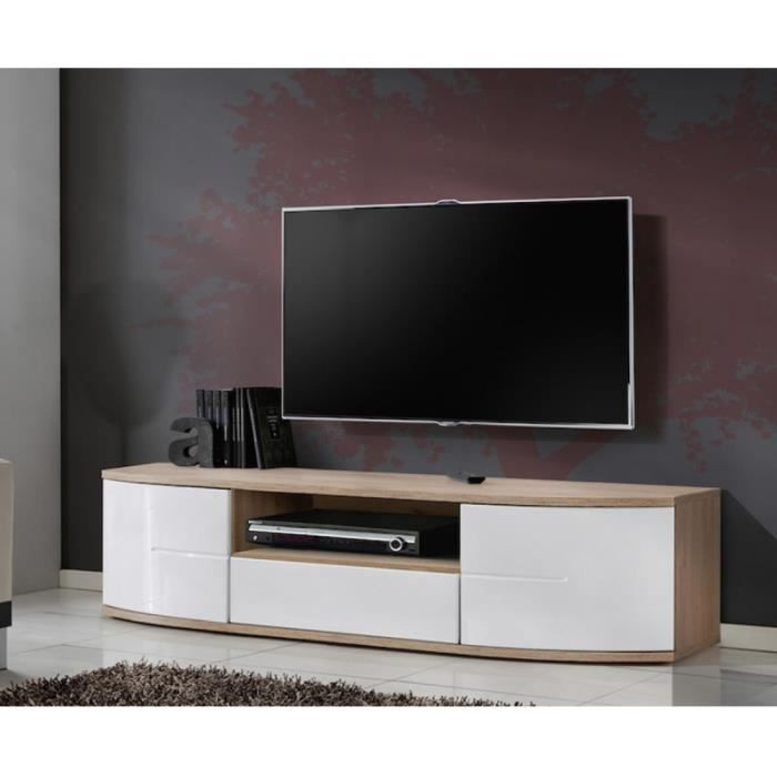 Paris prix meuble tv design ontario 150cm blanc for Meuble ashley prix