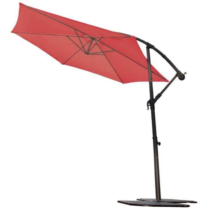parasol alu mat d port 3m rouge achat vente parasol parasol alu mat d port 3m les. Black Bedroom Furniture Sets. Home Design Ideas