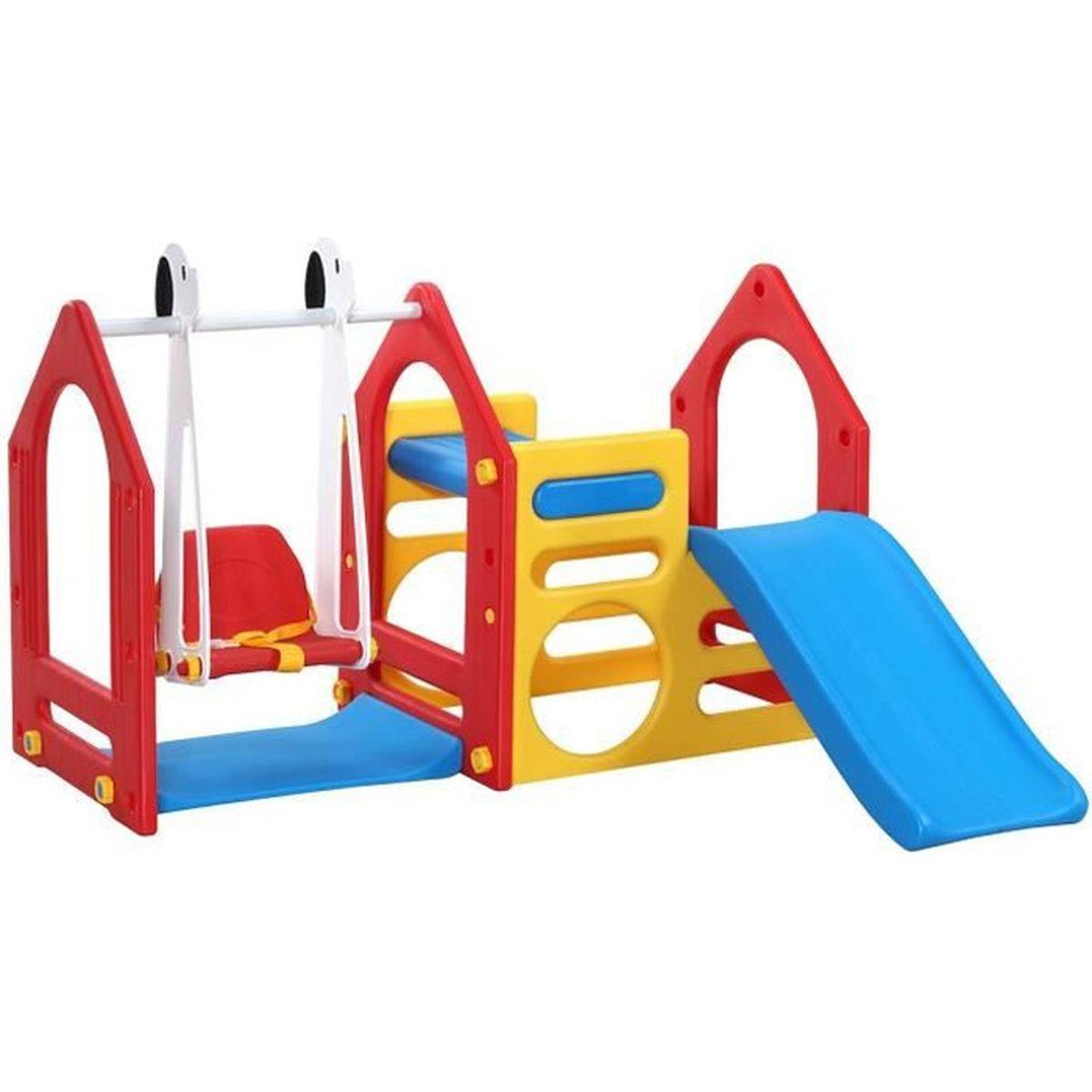Maison Pour Enfant Exterieur maison de jeu pour enfants avec toboggan et balançoire ks