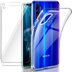 COQUE - BUMPER Coque Honor 20 Huawei Nova 5T Transparente +2× Ver
