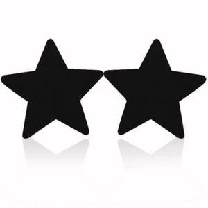 Cache-tétons Nipples Strass 2 Paires Bijoux de Seins Noir Blanc
