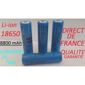 BATTERIE INFORMATIQUE 4 Piles Accus Rechargeables 18650 3.7V 8800Mah - Q
