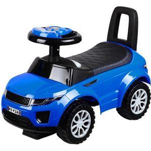PORTEUR - POUSSEUR Porteur bébé « voiture bleue » avec musique et lum