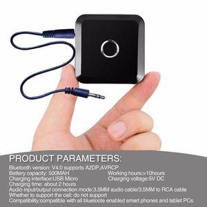 Récepteur audio 3.5mm Émetteur Bluetooth Multi-point Sans Fil Blue