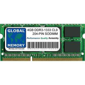 MÉMOIRE RAM 4Go DDR3 1333MHz PC3-10600 204-PIN SODIMM MÉMOIRE