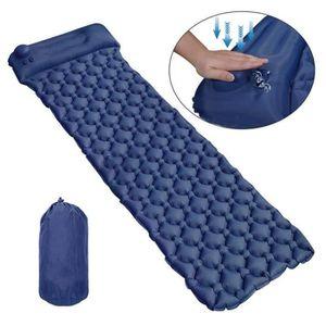Matelas Auto Gonflable Pour Camping Coussin Avec Sac De Rangement Bleu Marine